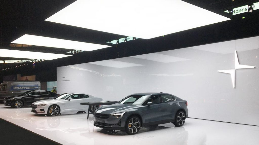 Polestar exhibition stand at eCar Expo